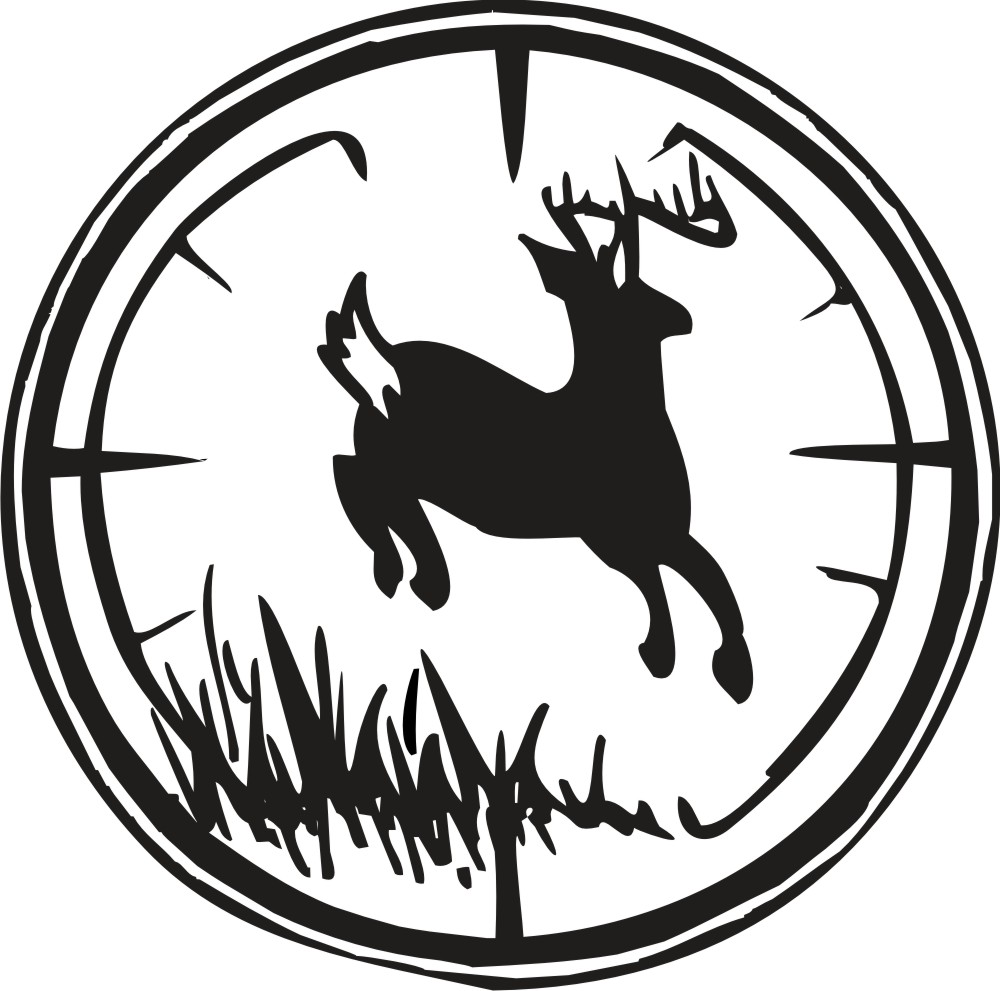 1000x991 Deer Clipart Duck Hunting