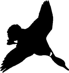 283x300 Silhouette Diving Duck Hunting Decal 5 X 5 Ebay