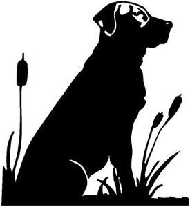 275x300 Black Lab Vinyl Decal