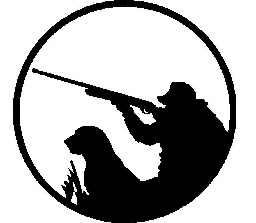879x768 Hunting Silhouettes Hunter With Dog Adhesive Car Sticker 2