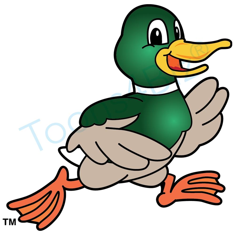 1000x1000 Duck Mascot Running Clip Art Clip Art Image