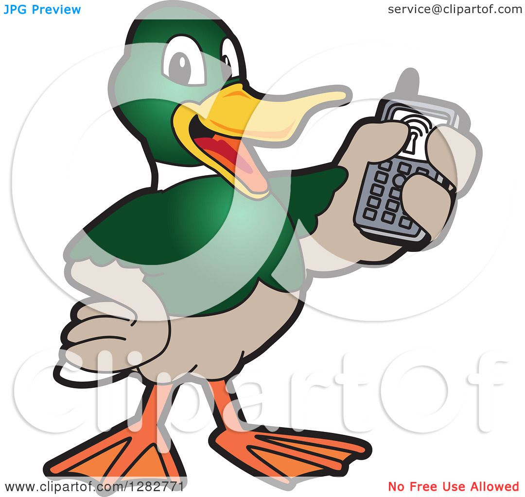 1080x1024 Clipart Of A Happy Mallard Duck School Mascot Character Holding Up