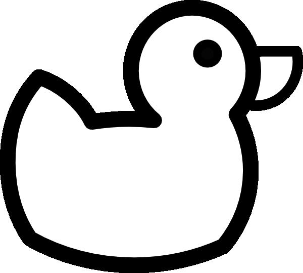600x539 Duck Outline Clip Art