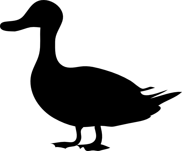 600x498 Duck Silhouette Clip Art