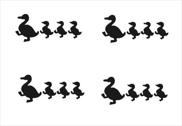 600x415 Duck Silhouettes