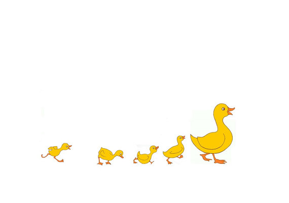 570x400 Nursery Painting Of Duck And Ducklings. Customise Personalise