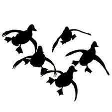 225x225 Flying Duck Silhouette Jukin'' Four Ducks Waterfowl Decal Baby