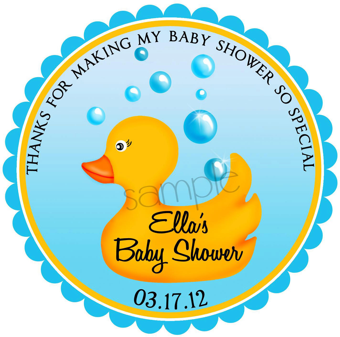 1423x1412 Rubber Ducky Stickers Rubber Duck Baby Shower Stickers