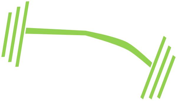 600x345 Green Barbell Dumbbell Clip Art