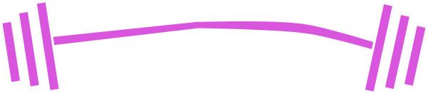600x132 Purple Barbell Dumbbell Clip Art
