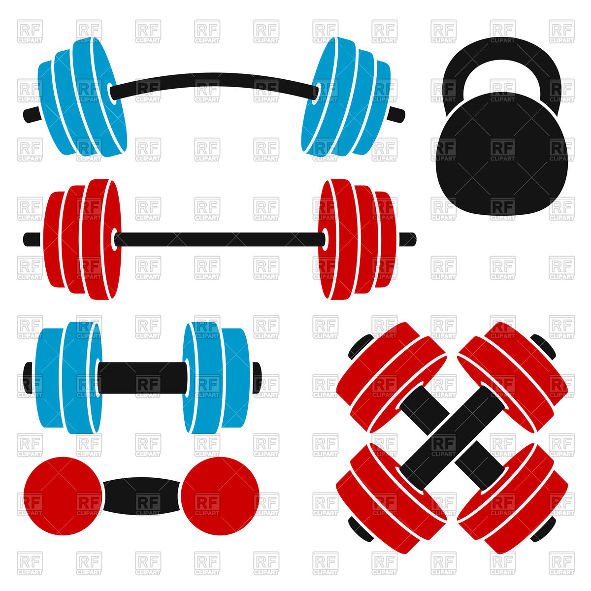 1200x1200 Set Of Athletic Weights Kettlebell, Dumbbell, Barbell Royalty