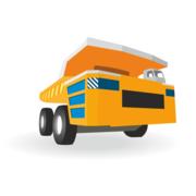 180x180 Dump Truck Clip Art, Vector Dump Truck