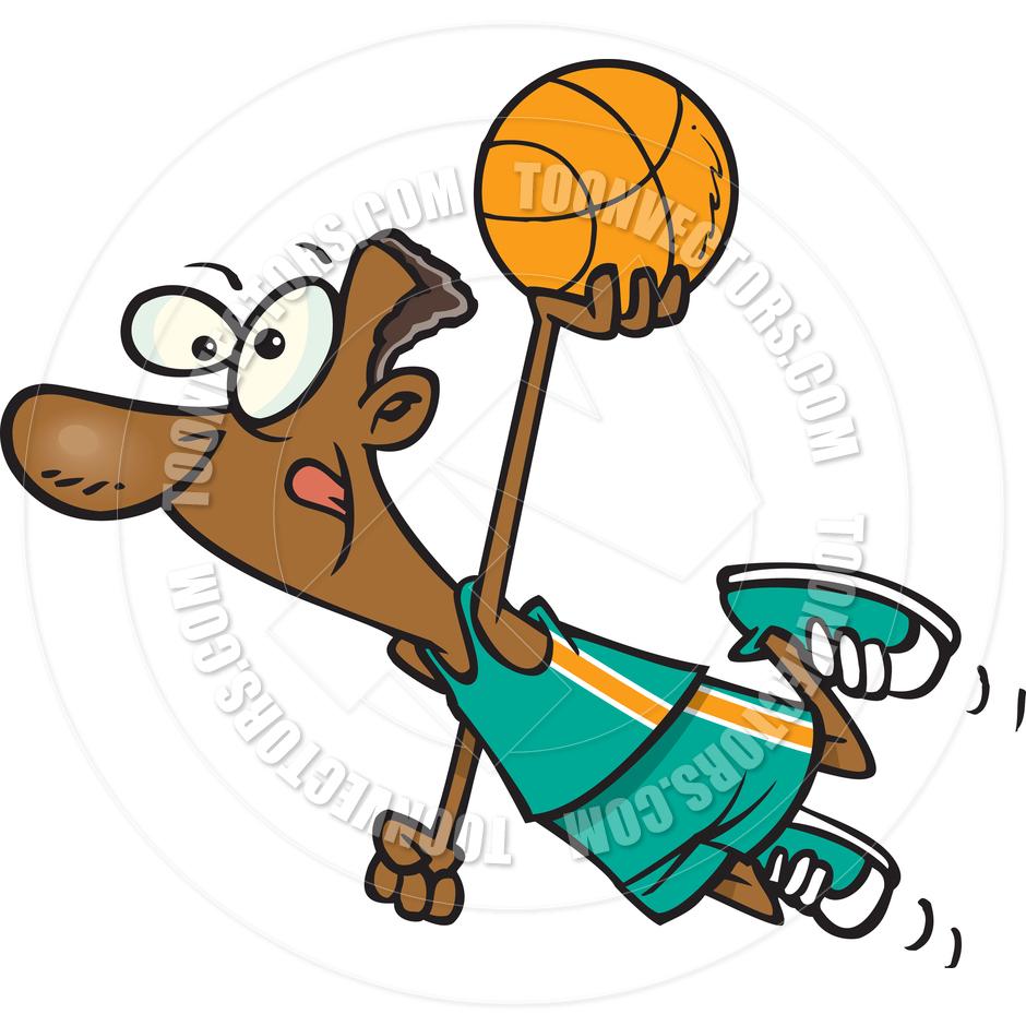 940x940 Cartoon Basketball Player Dunk By Ron Leishman Toon Vectors Eps