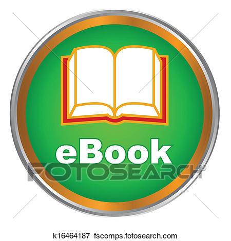 450x470 Clip Art Of Green Ebook Icon K16464187