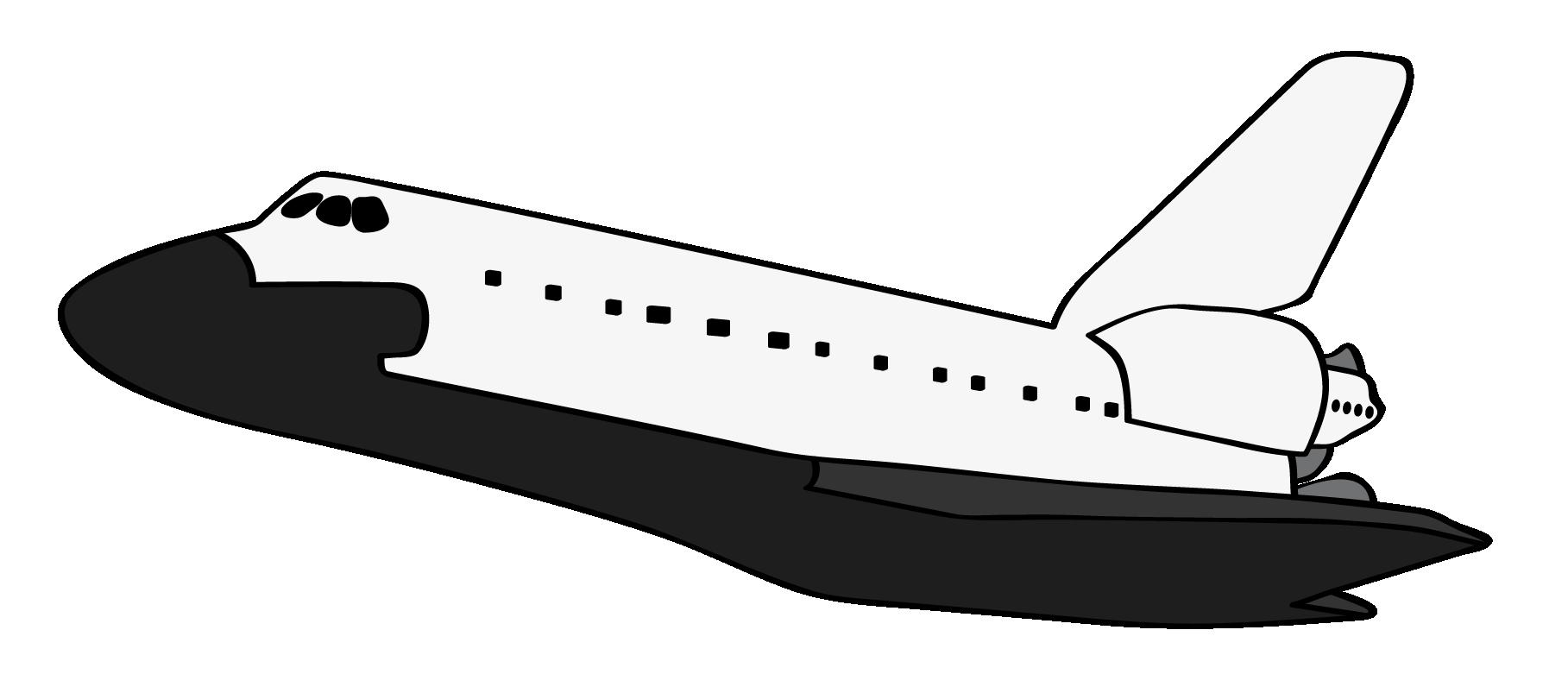 1817x803 Space Shuttle Clipart
