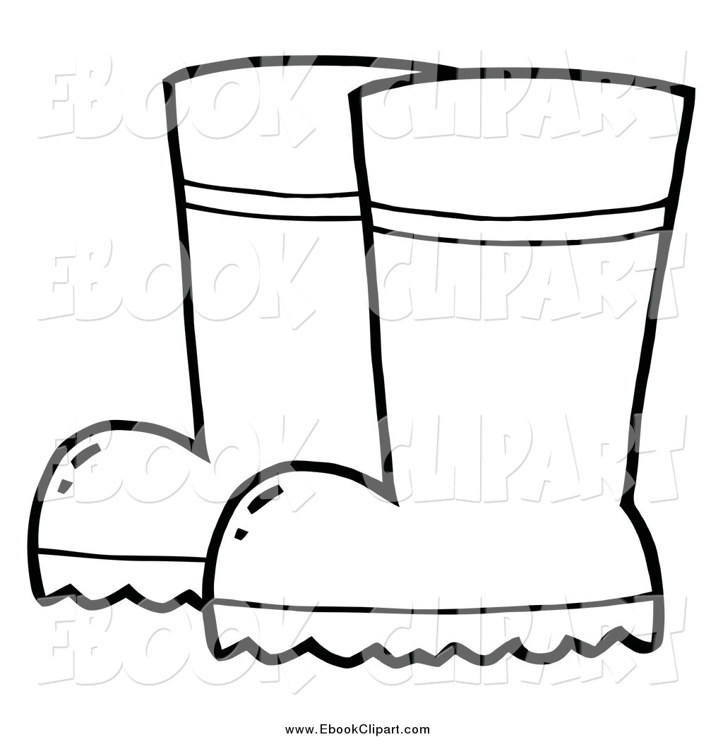 1024x1044 Vector Clip Art Of A Black And White Pair Of Gardening Rubber
