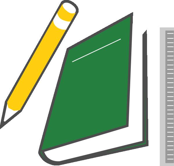 600x575 Book And Pencil Clipart Clipartmonk