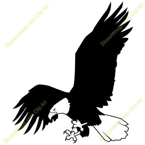 500x500 Drawn white tailed eagle flag clip art