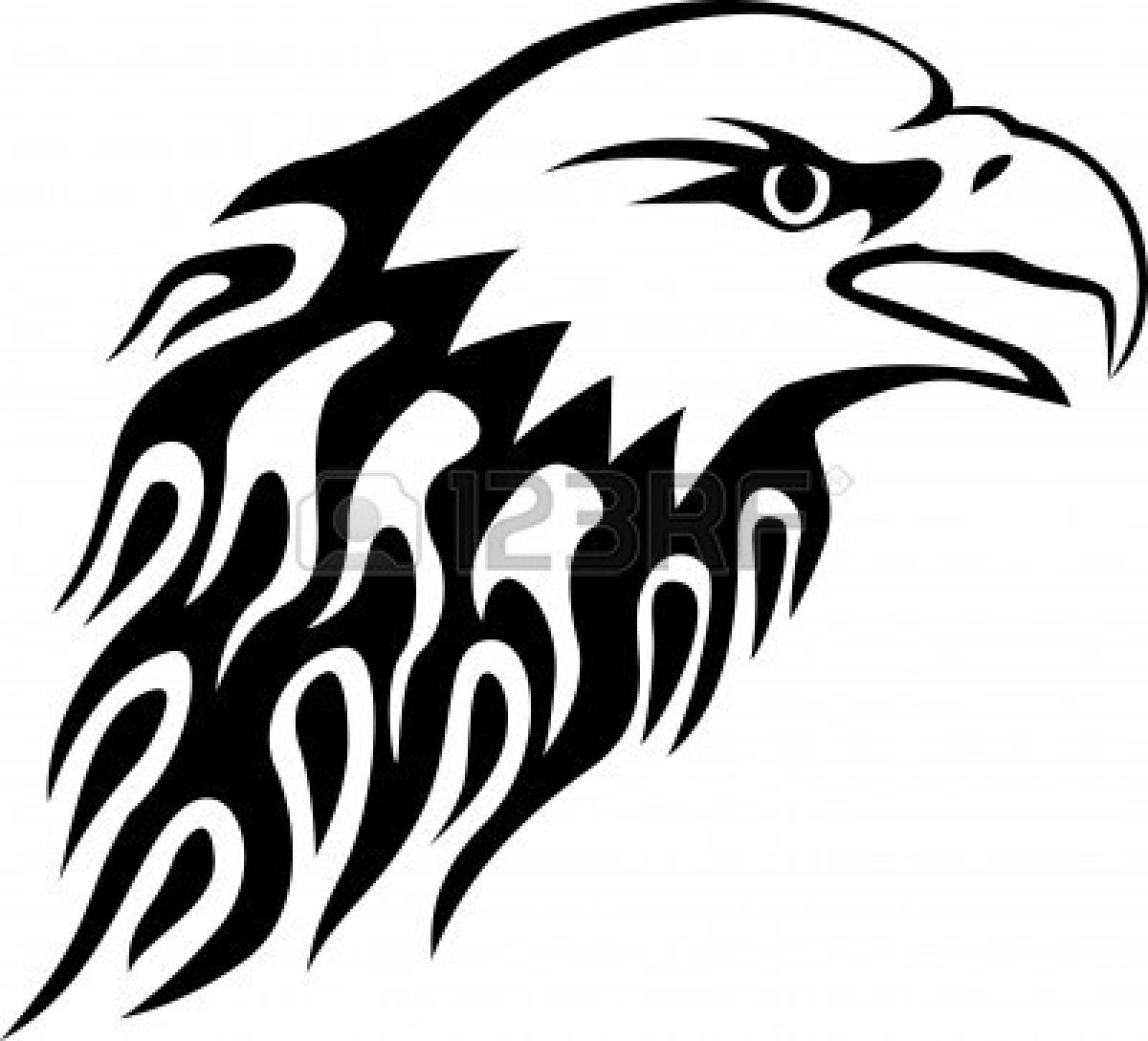 1200x1089 Eagle Head Clipart Black And White