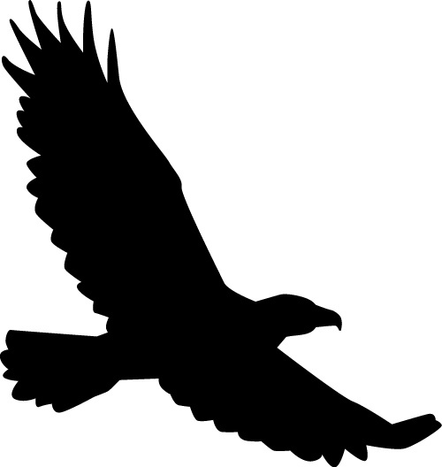 500x528 Eagle silhouette clip art free vector download (213,986 Free