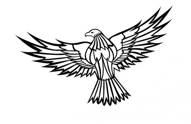 626x407 Flying eagle clipart vector free
