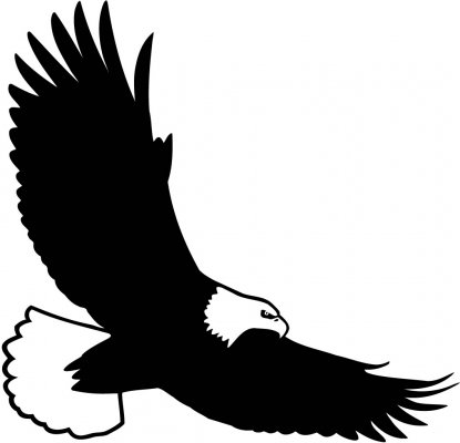 415x400 Bald eagle flying clipart clipartfest
