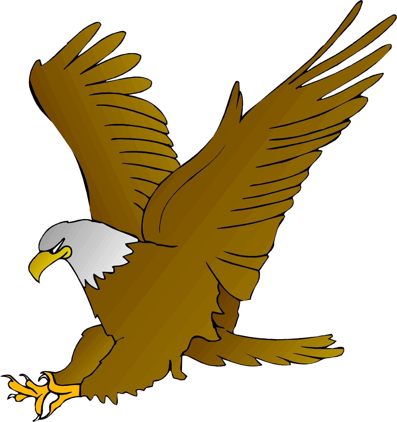 1390x1477 Bald eagle showing post clip art