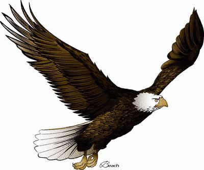 400x335 Flying Eagle Clip Art 4