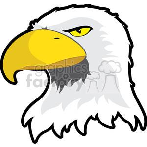 300x300 Royalty Free Eagle Mascot 384869 Vector Clip Art Image