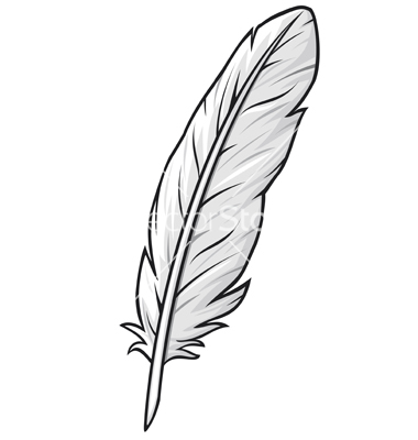 380x400 Feather Outline Clipart