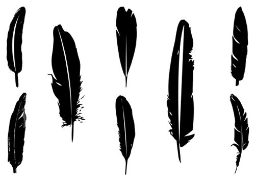 500x350 Feather Silhouette Clipart
