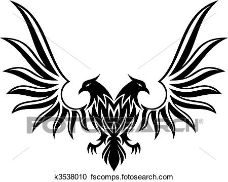450x359 Clipart Of Double Headed Eagle 2 Vector K3538010