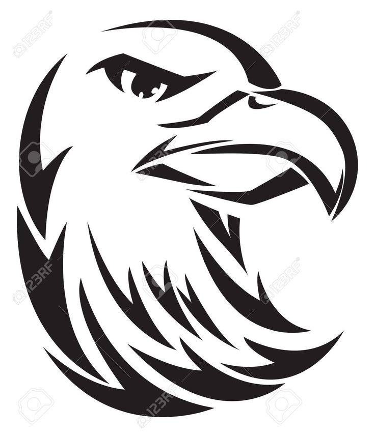 Eagle Head Clipart Black And White | Free download best ...