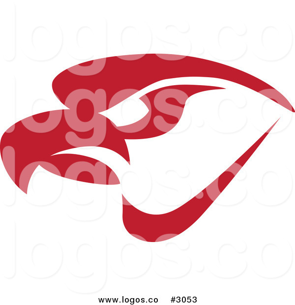600x620 Royalty Free Vector Of A Red Eagle Logo By Toons4biz