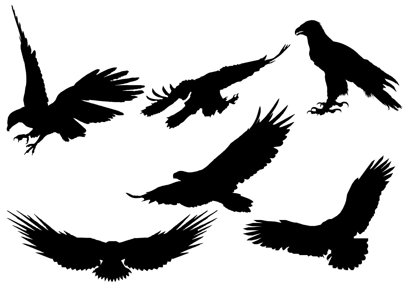 Eagle Silhouette Cliparts | Free download best Eagle