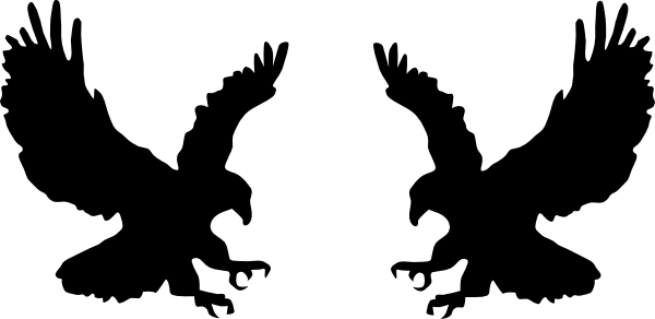 600x292 Fighting Eagles Clip Art
