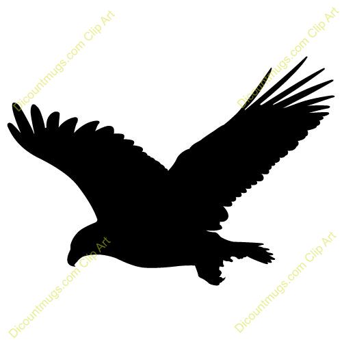 500x500 Black Eagle Clipart Flight Silhouette