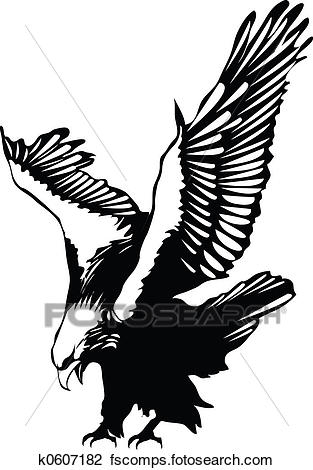 313x470 Clip Art Of Flying Eagle K0607182