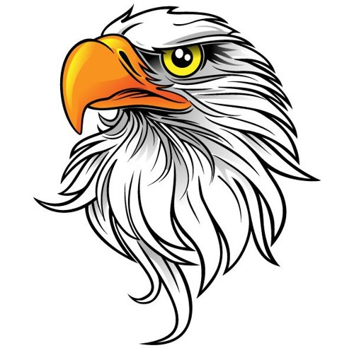 500x492 Free Eagle Head Clip Art Download Free Vector Beading