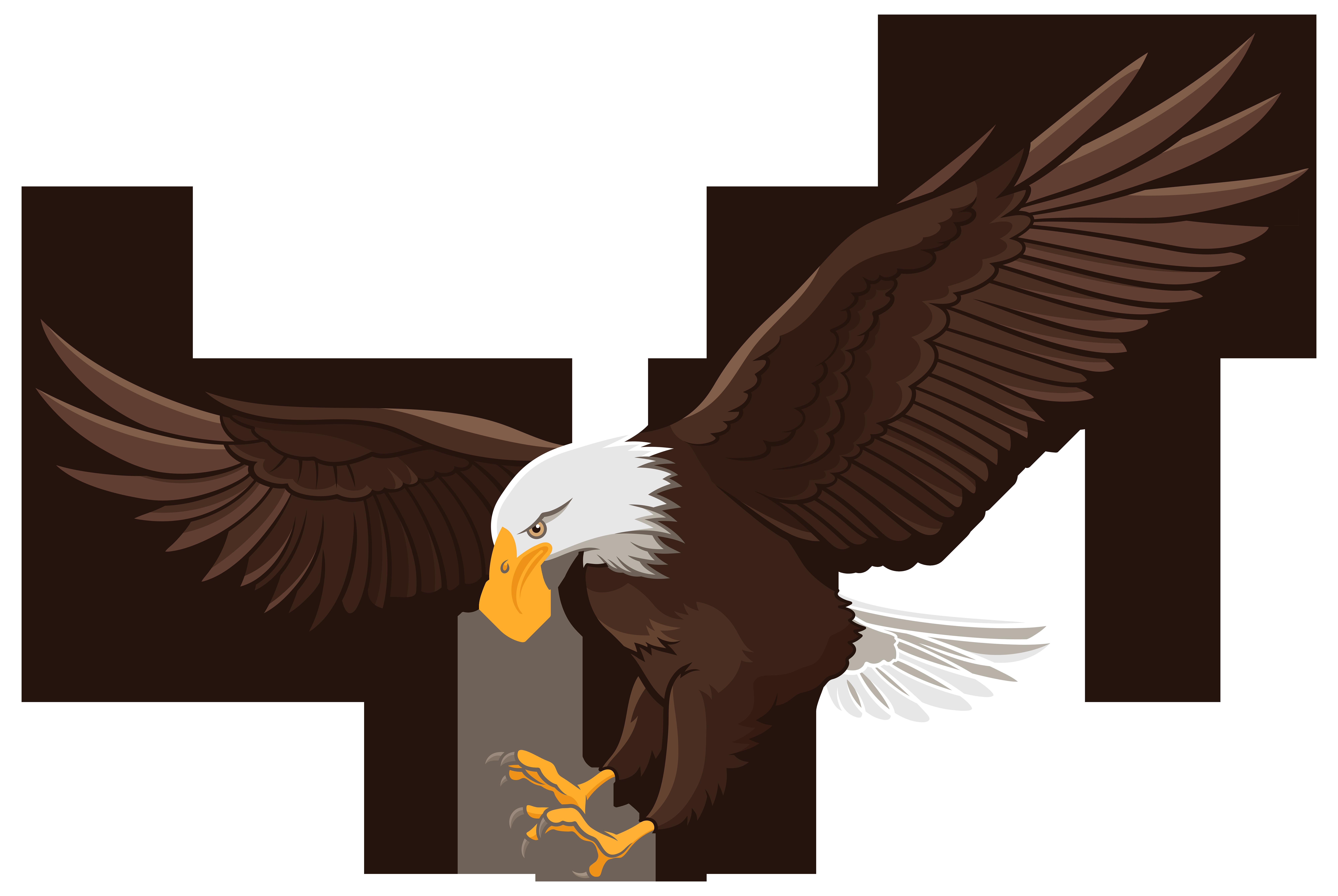 8000x5359 Golden Eagle Clipart Vector