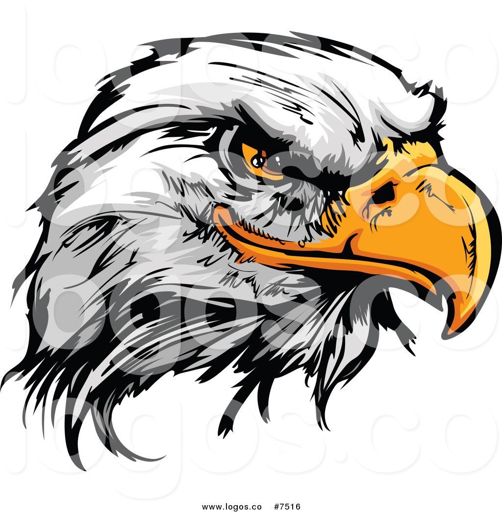 1024x1044 Royalty Free Clip Art Vector Logo Of A Fierce Bald Eagle Head By