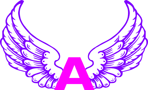 600x366 Eagle Wings With Letter A 2 Clip Art