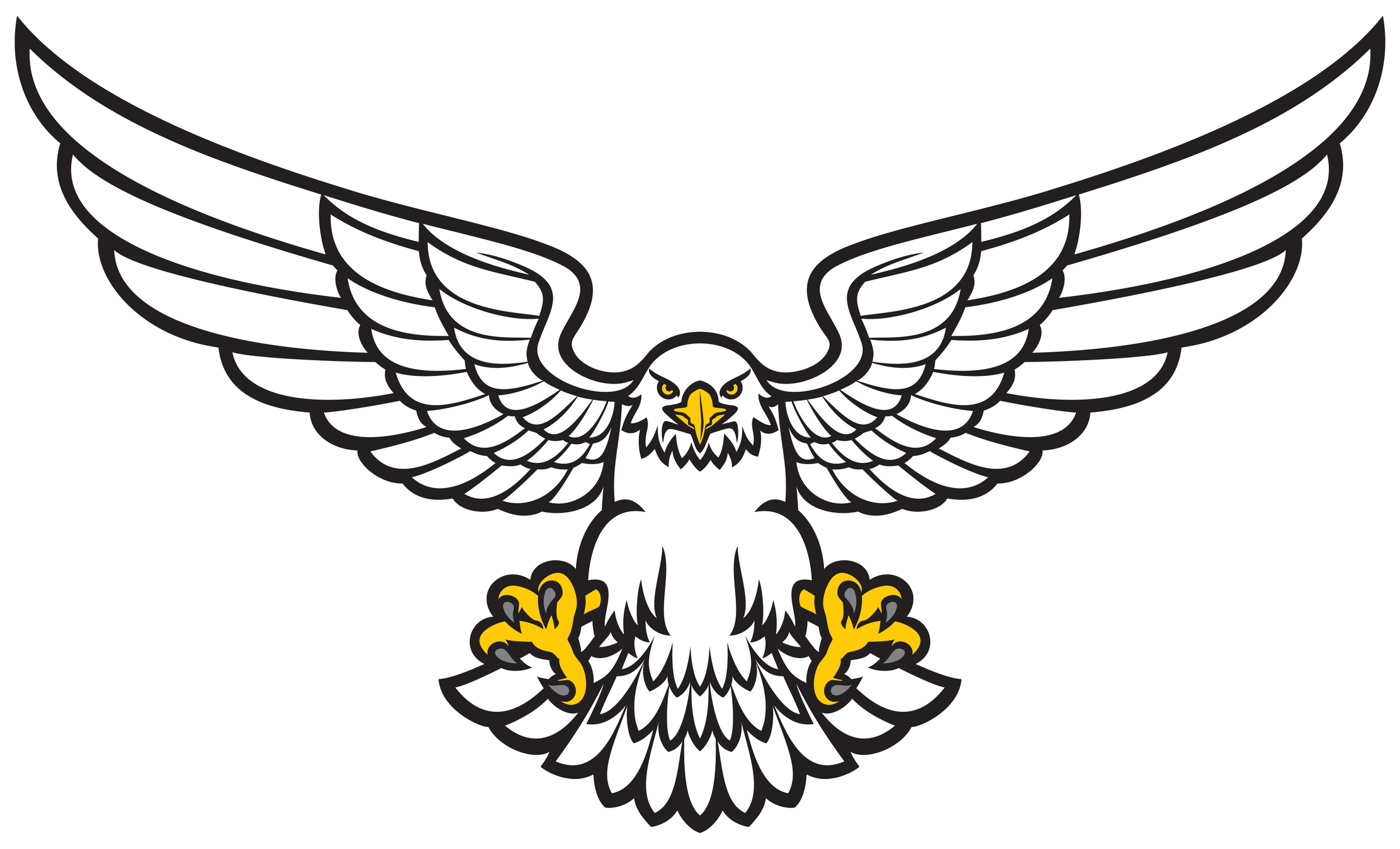 2224x1348 Eagle Clipart Open Wing