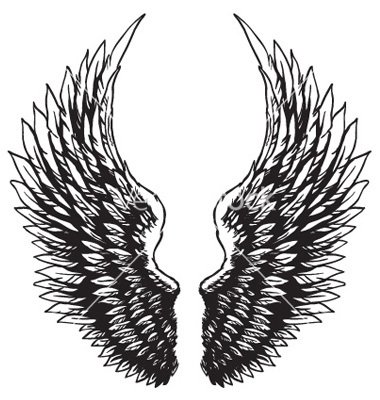 380x400 Wings Clipart Hawk Wing