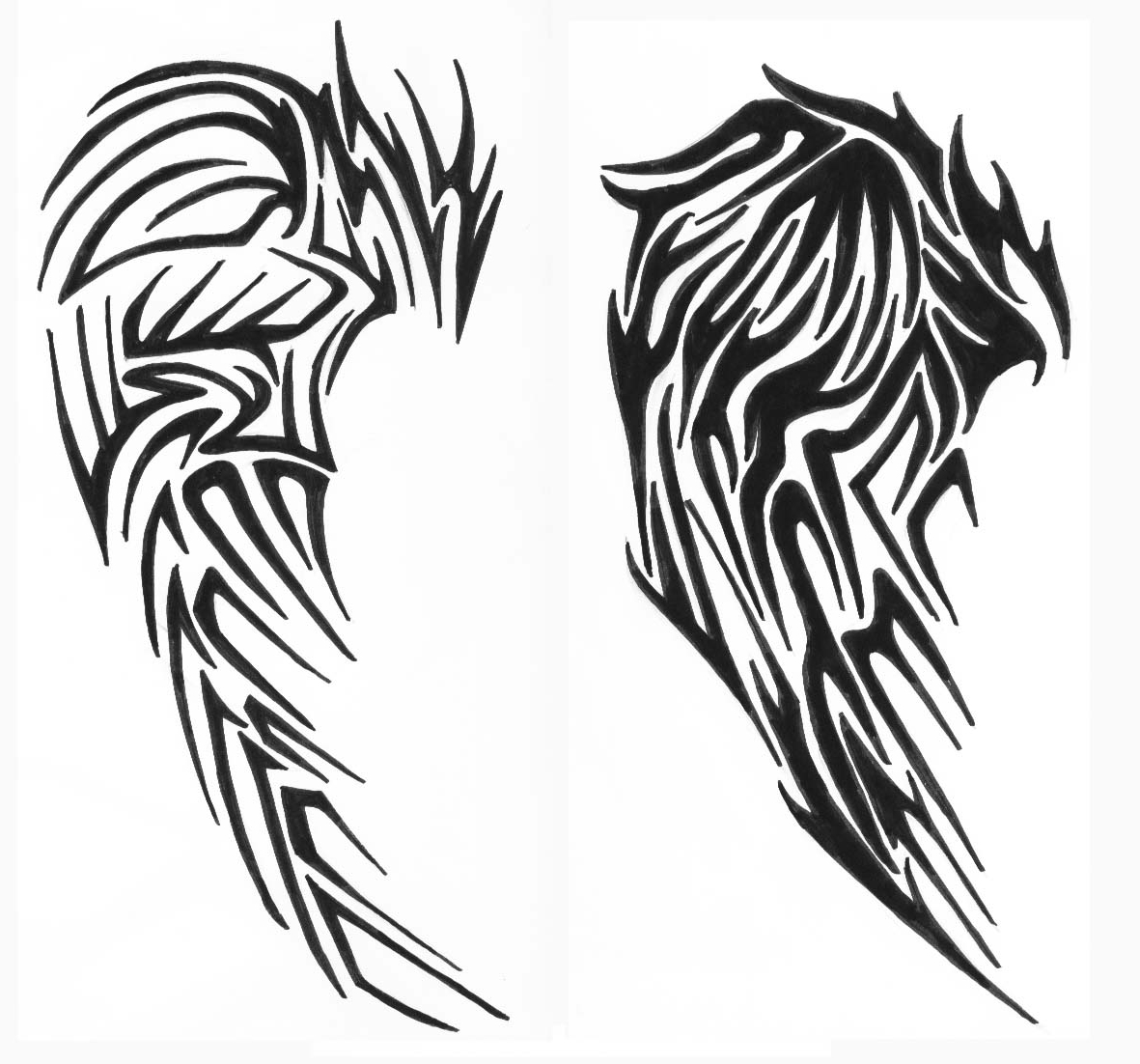 1181x1102 Eagle Wings Tattoos Designs Ideas About Tribal Wings