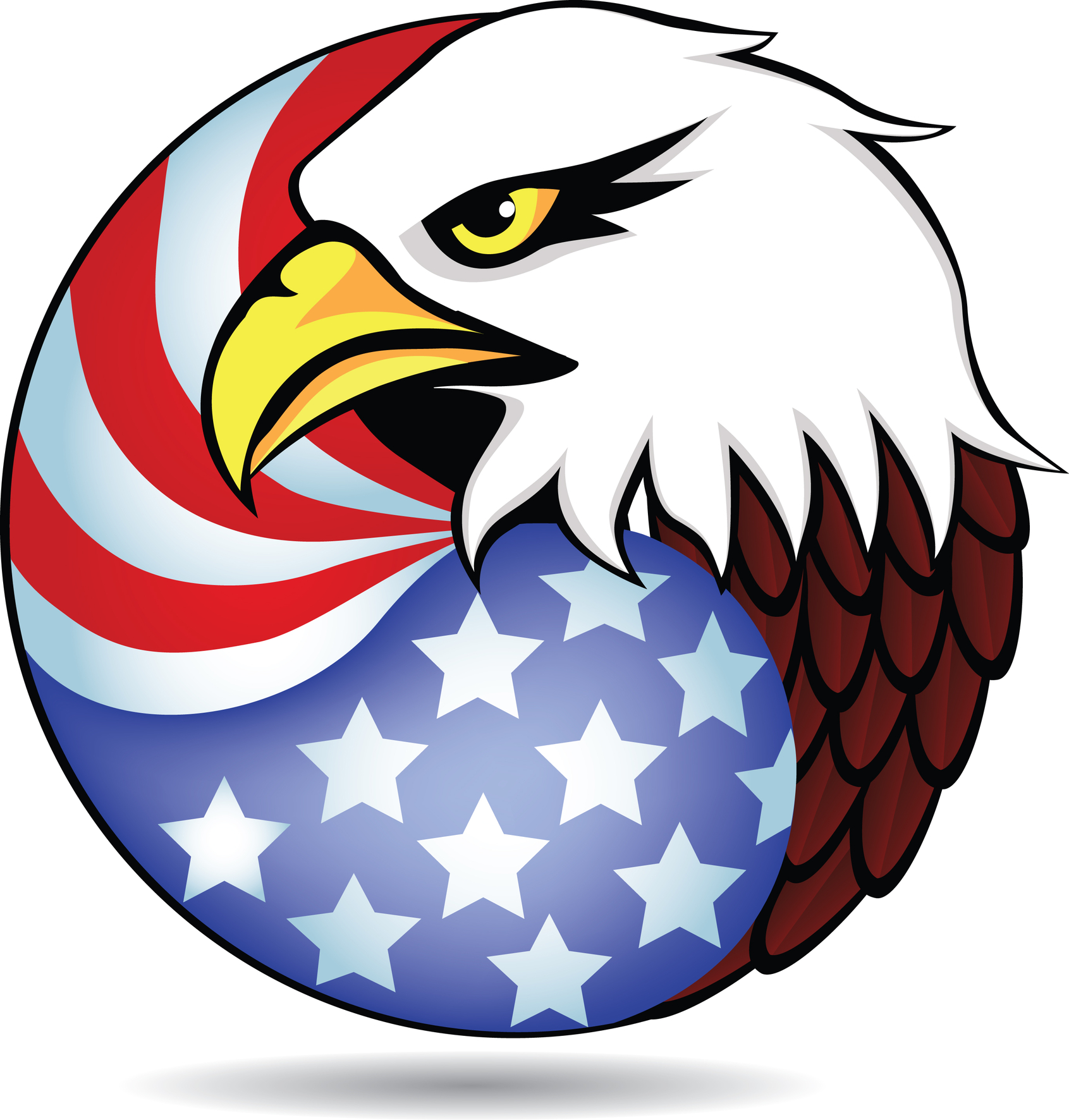1691x1772 Eagle Clipart Flag Clip Art