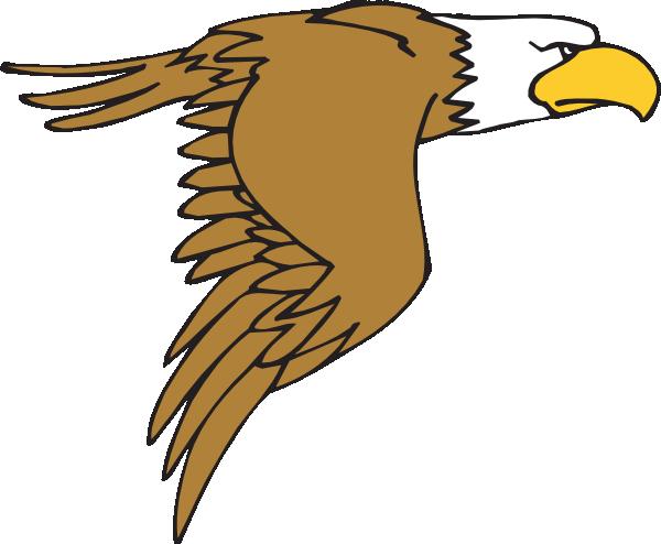 600x494 Flying Bald Eagle Cartoon Clip Art