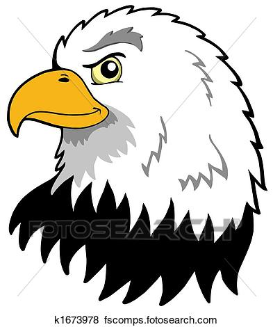 393x470 Stock Illustration Of American Eagles Head K1673978