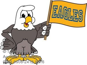 300x224 Art Illustration Of A Bald Eagle With Team Flag