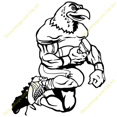 500x500 Eagles Football Clipart
